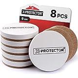 Meubelsliders X-PROTECTOR Sliders voor harde vloeren Best 8-Pack 3 1/2 inch Heavy Moving Pads - Sliders voor Meubels. Beige K
