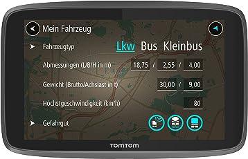 TomTom Go Professional 520 LKW-Navigationsgerät (Updates über WI-Fi, 12,7 cm (5 Zoll), Smartphone Benachrichtigungen, Lebenslang Karten-Updates Europa, Lebenslang Traffic und Radarkameras)