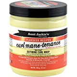 Aunt Jackie's Flaxseed Recipes Curl Mane-tenance, Lightwieght Anti-Poof Defining Curl Whip, Enriched with Flaxseed, Argan Oil