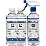 Hand Alcohol Desinfectie Spray 70% Gedenatureerd met IPA, MEK en Bitrex - 500 ml met spraykop + 2x500 ml met dop