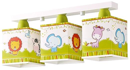 Kinderzimmer-Lampe Zoo Decken-Lampe 63113 mit LED dimmbar warmweiß ...