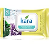 Kara Face Wipes, Seaweed & Lavender, 30 Pieces