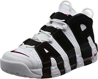 Nike Air More Uptempo '96 Sneakers Bianco Nero 414962 105 (40.5 Bianco)