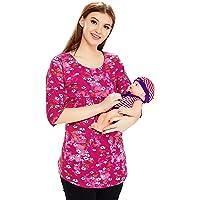 AV2 Women's Cotton Nightwear Maternity Feeding Nursing Tunic Top