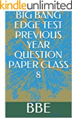 BIG BANG EDGE TEST PREVIOUS YEAR QUESTION PAPER CLASS 8