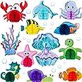 WILLBOND 12 Pezzi Centrotavola di Animali Marini Nido d'Ape Decorazione di Creature Marine Favo Centrotavola di Tema di Ocean