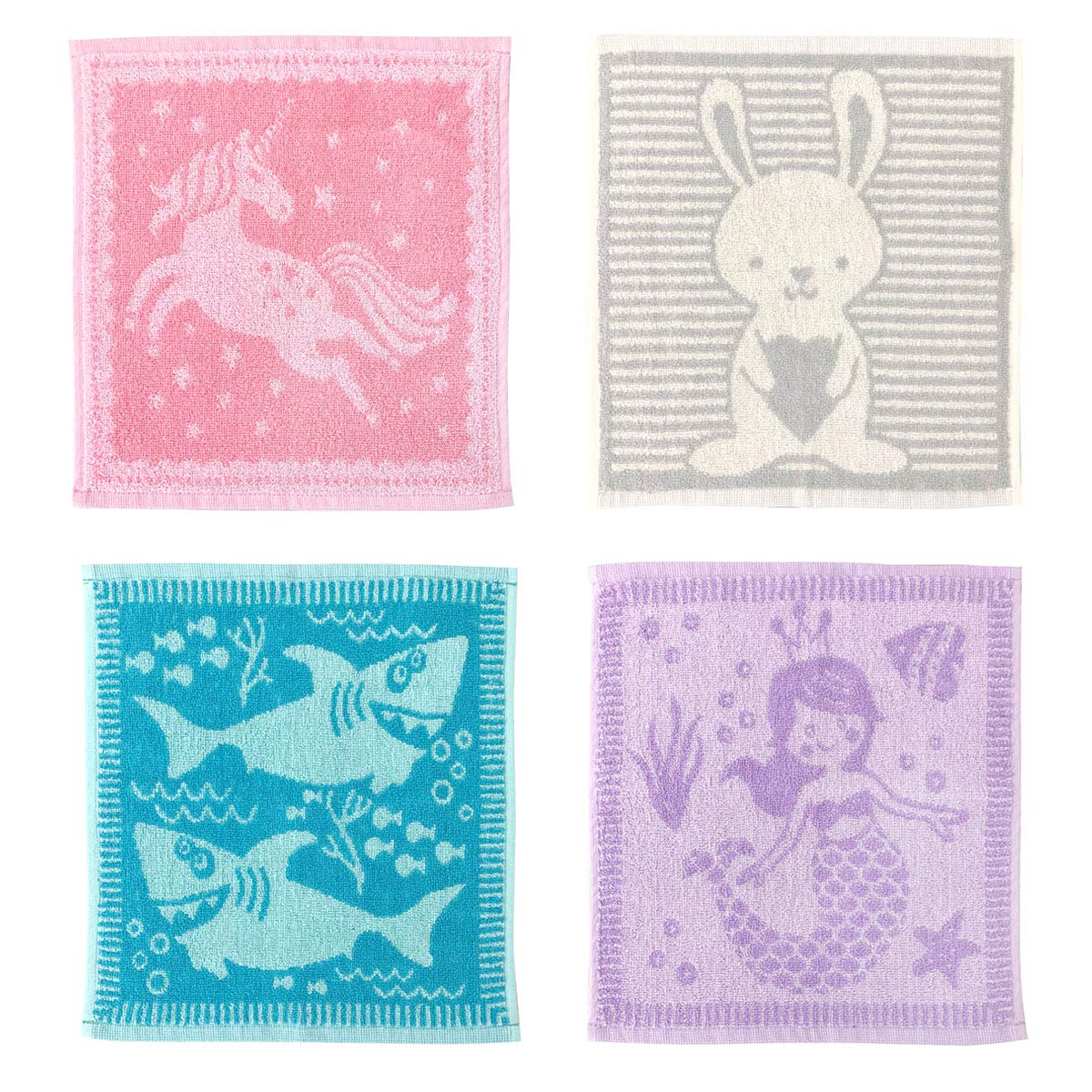 Country Club Set of 4 Animal Face Cloths
