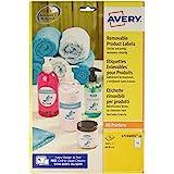 AVERY - Pochette de 240 étiquettes rondes autocollantes et amovibles, Personnalisables et imprimables, Diamètre 60 mm , Impre