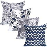 Marque Amazon-UMI - Lot de 4Housses décoratives pour Coussins carrés, au Toucher Doux, pour canapé, Chambre ou Voiture, 45,7