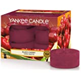 Yankee Candle Tea Light Scented Candles | Black Cherry | 12 Count