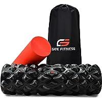 GATE FITNESS Faszienrolle Set, 2 in 1 Foam Roller, Schaumstoffrolle für Wirbelsäule, Nacken, Rücken und Po Massage, Triggerpunkt Massagegerät ideal für Selbstmassage