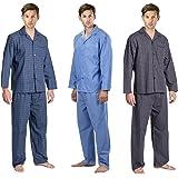New Mens Woven Pyjama Set 2 Piece PJs Lounge Wear Gift Pyjamas Pajamas Nightwear