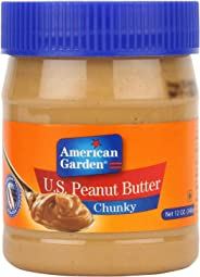 American Garden U.S. Peanut Butter, Chunky, 340g