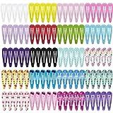 HBF Set da 100 Mollette per Capelli Bambina Fermagli Capelli in Metallo Antiscivolo Accessori per Bambini