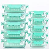 10 recipientes de cristal para comida preparada con tapas herméticas para cocina y uso doméstico. Recipientes de cristal para