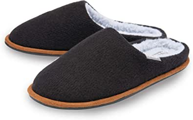 Dunlop Mens Slippers Slip On Mule Comfy Fur Lined Felt Memory Foam Machine Washable Sizes 7-12