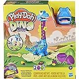 Play-Doh Dino Crew Langnek Bronto-Speelgoeddinosaurus Voor Kinderen Vanaf 3 Jaar Met 2 Play-Doh-Eieren Van Elk 71 Gram