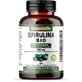 Alga Spirulina Biologica in Compresse da 500mg (500 compresse). 100% Bio, Naturale e Pura, Ficocianina al 17%. Coltivata in I