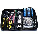 UbiGear Network/Phone Cable Tester + RJ11/RJ12/RJ45 Crimp Crimper + 100 pcs RJ45 CAT5e Connector Plug Network Tool Kits (Prem