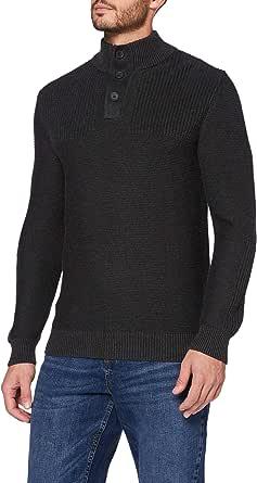 MERAKI Men's Cotton Button Neck Jumper