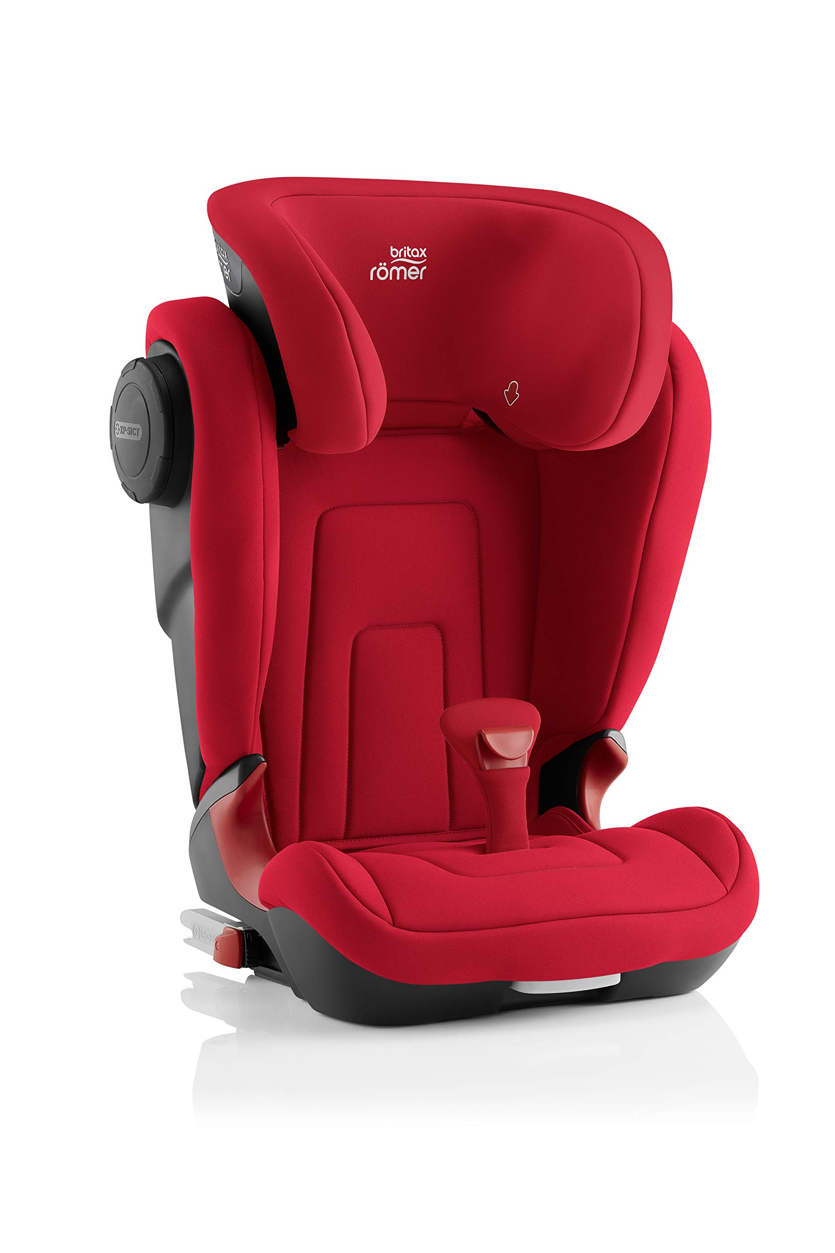 Britax Römer KIDFIX² S Group 2-3 (15-36kg) Car Seat - Fire Red Britax Römer Advanced side impact protection - sict offers superior protection to your child in the event of a side collision. reducing impact forces by minimising the distance between the car and the car seat. Secure guard - helps to protect your child's delicate abdominal area by adding an extra - a 4th - contact point to the 3-point seat belt. High back booster - protects your child in 3 ways: provides head to hip protection; belt guides provide correct positioning of the seat belt and the padded headrest provides safety and comfort. 3