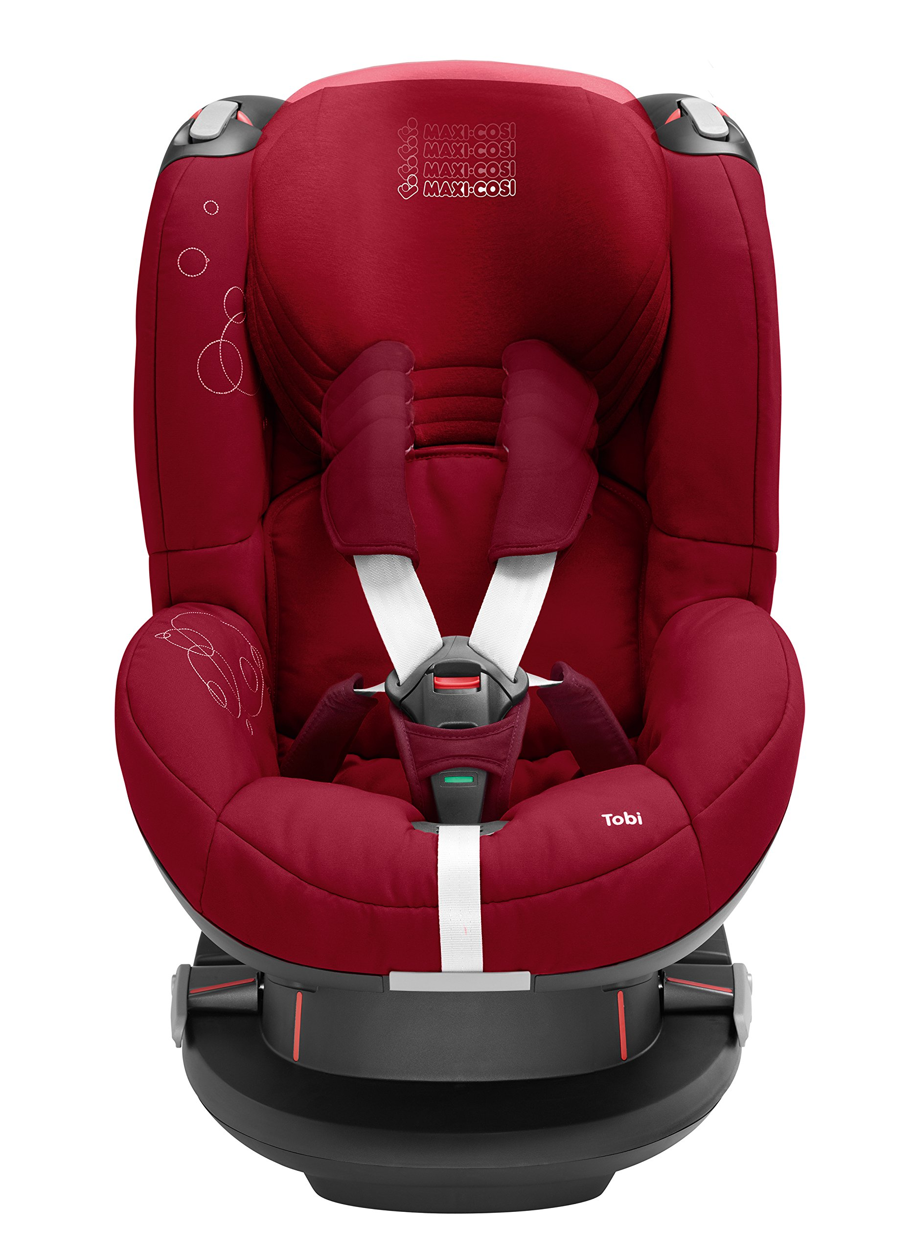 Maxi-Cosi Tobi Toddler Car Seat Group 1, Forward-Facing Reclining Car Seat, 9 Months-4 Years, 9-18 kg, Denim Hearts Maxi-Cosi Forward facing, suitable for toddler of weight 9-18 kg Easy to install with a three-point safety belt Intuitive and easy to read belt routing 3