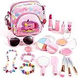 Auney Trucchi Bambina Set, Giocattoli per Il Trucco dei Bambini, 18 Pezzi Lavabile Makeup Set di Cosmetici per Bambini