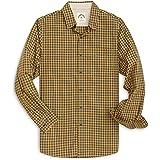 Dubinik® Camisa a cuadros para hombre, ajuste cómodo, popelina, formal e informal, de manga larga