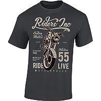 T-Shirt: Riders Inc. - Moto Tee-Shirt - Motard - Biker - Motocycle - Chopper - Motocycliste - Idée Cadeau - Homme-s…