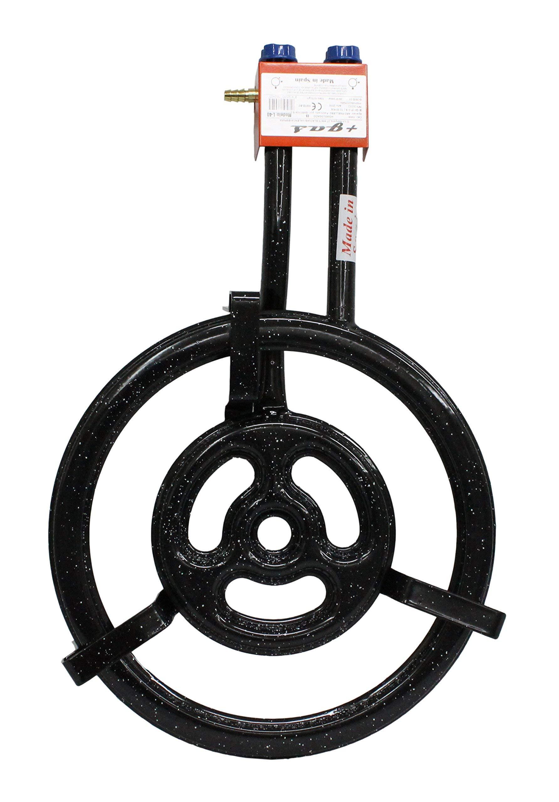 Garcima 76050 Hornillo paellero Gas Plano l-50 2 Fuegos, Negro, 51.00×75.50×12.00 cm