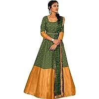 Shehzadi Women's Maxi Gown (YSB_Multicolored_Large)