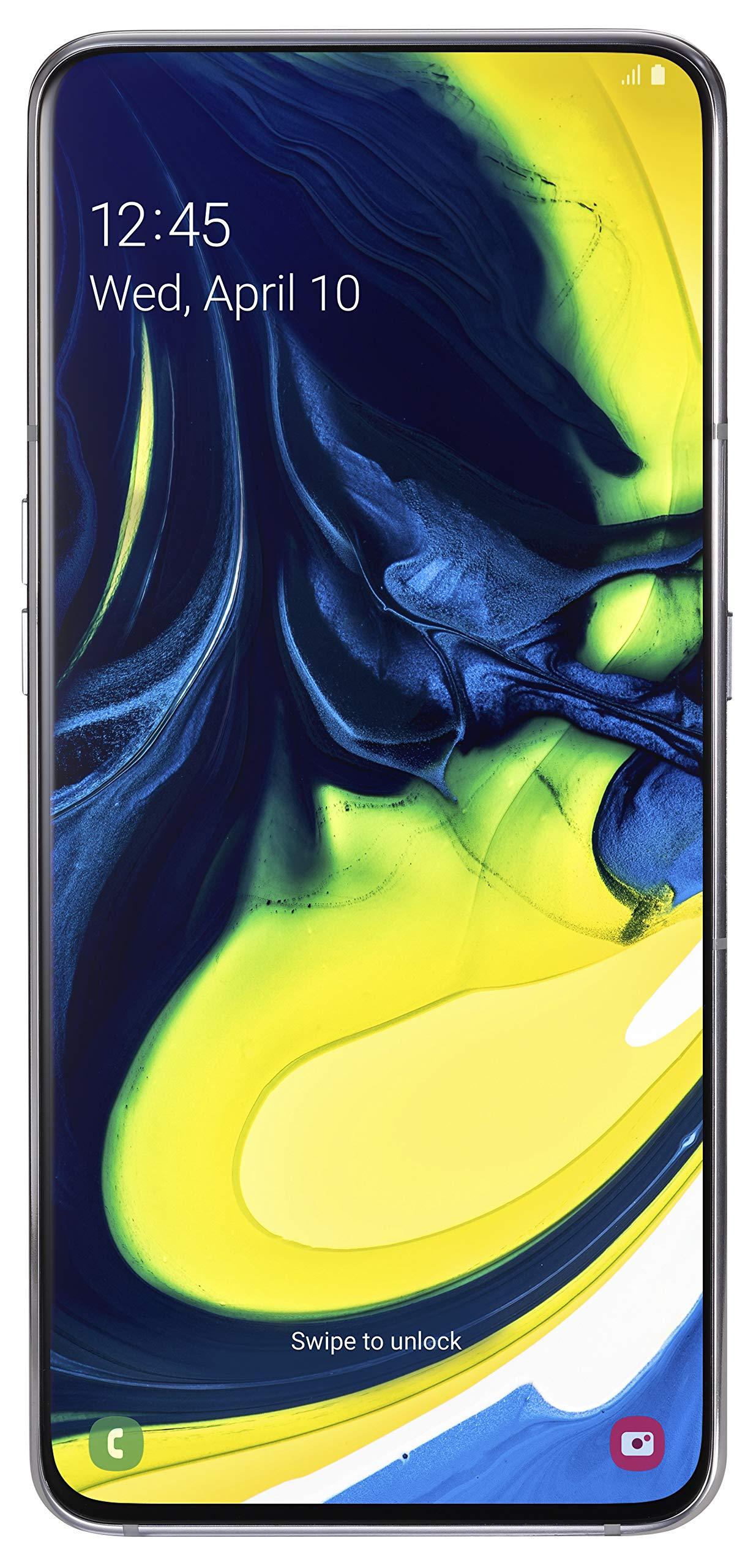 Samsung Galaxy A80 Smartphone (17.0cm (6,7 Zoll) 128GB interner Speicher, 8GB RAM, Dual Sim, Ghost White) Deutsche Version