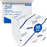 Scott Control 8508 Papier toilette plié 2 épaisseurs, 36 paquets de 250 feuilles, Pour distributeurs Aquarius compatibles, Ma