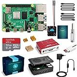 LABISTS Raspberry Pi 4 Model B 4 GB Ultimatives Kit mit 32GB Class10 Micro SD-Karte, 5,1V 3,0A USB-C EIN/Aus…