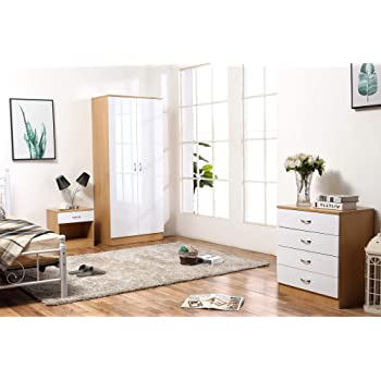exciting country style bedroom furniture | YAKOE 4-Piece Country Style Ledbury Bedroom Furniture Set ...