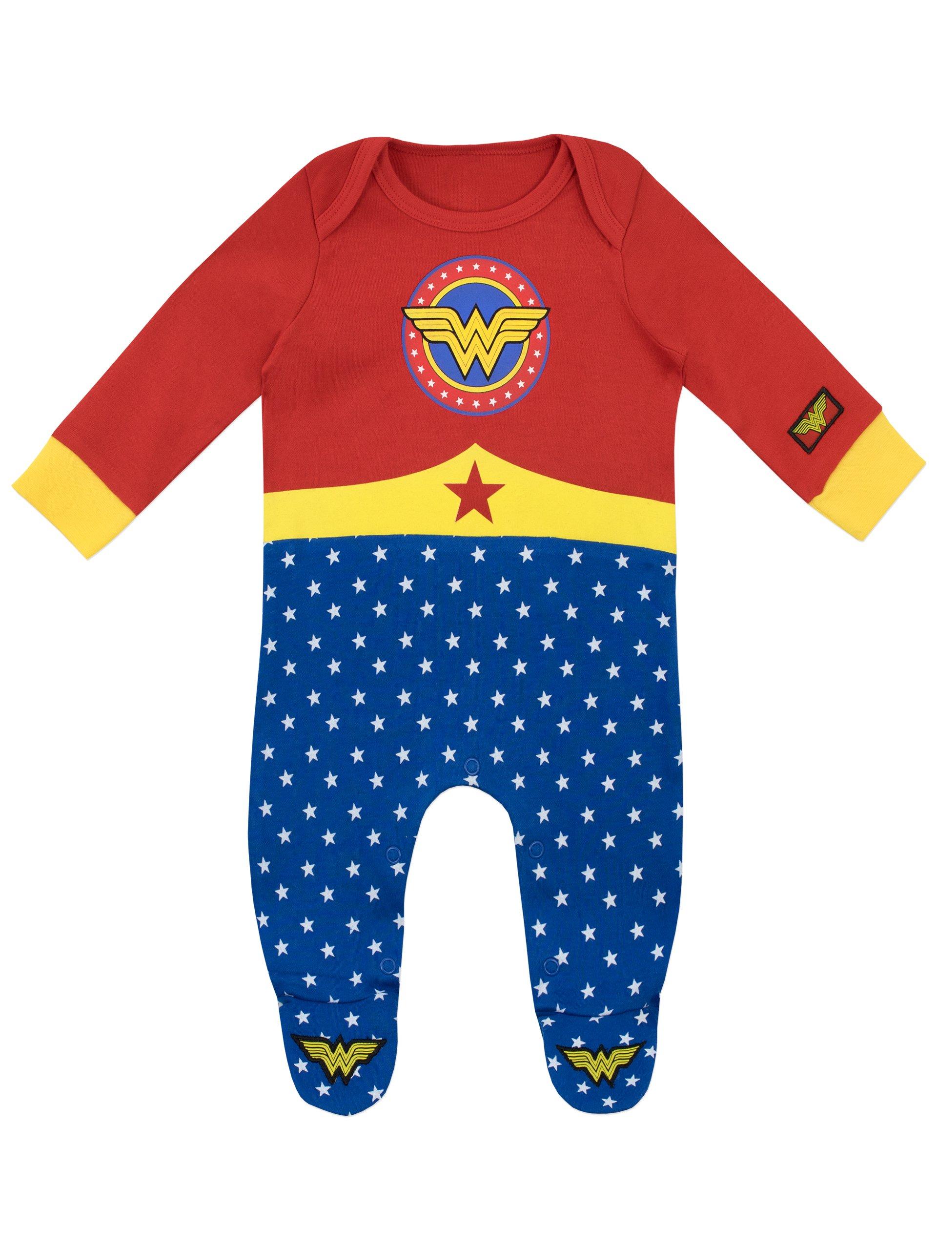 Wonder Woman Pijama Entera y Venda para Niñas Bebés 1