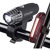 Cycleafer® Éclairage Vélo Bicyclettes VTT USB Rechargeable Avant & Arrière Ultra Puissant Lumineuses Parfait pour…