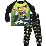 Miraculous Pijamas de Manga Larga para niños Cat Noir