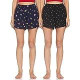 Longies Women's Pack of 2 Regular Rayon Shorts