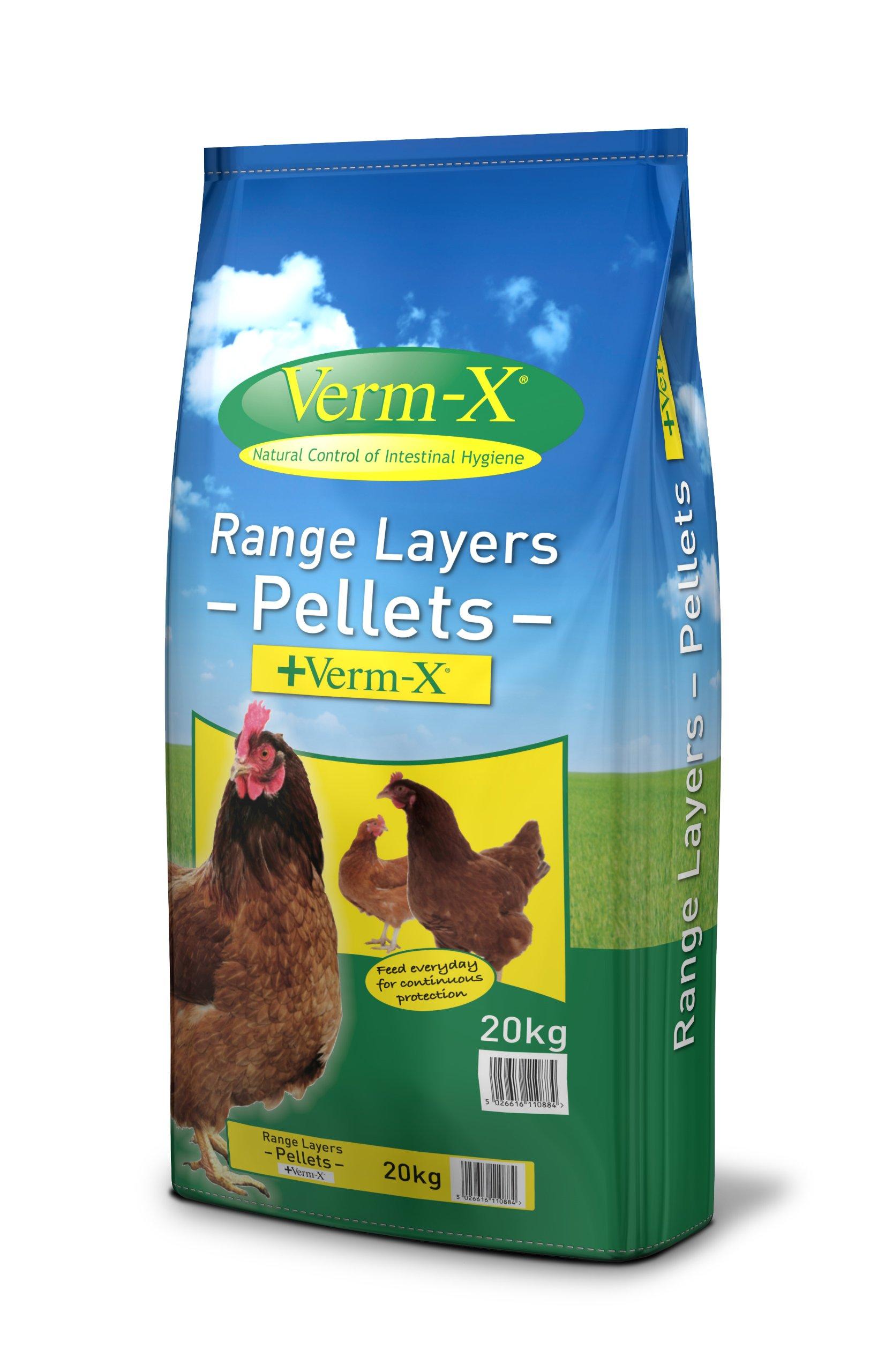 Copdock Mill  Copdock Mill Range Layers Pellets Plus Verm X, 20 Kg – Pack of 1