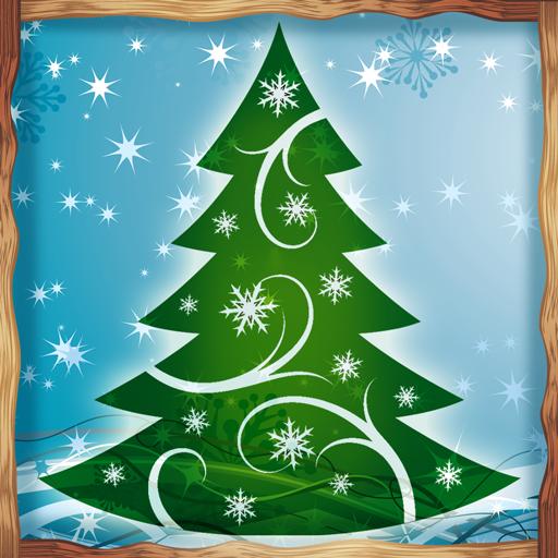 Santas Eigenen Weihnachtsbaum (Neujahr Foto Ernte)