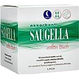 Saugella Cotton Touch assorbenti esterni notte ad azione antiodore con ali in cotone ipoallergenici 12 pezzi