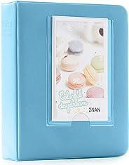Shopizone Mini 64 Pockets Album for Instax Mini 8/9 / 9+ Accessory Travel Diary to Store Memories - Blue