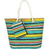 Comius Sharp Große Strandtasche, Strandtasche Damen Shopper Tasche Sommer Schultertasche Canvas Umhnge Tasche Strand Tasche m
