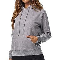 Smith & Solo Hoodie Damen – Kapuzenpullover Frauen Baumwolle Long, mit Kapuze Pullover Sweatshirt Rundhals, Slim Fit…