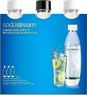 sodastream 3Flaschen für Wassersprudler Wasser, 1Liter, Typ Fuse, kompatibel mit Modellen Trinkwassersprudler Source, Play, Power, Spirit
