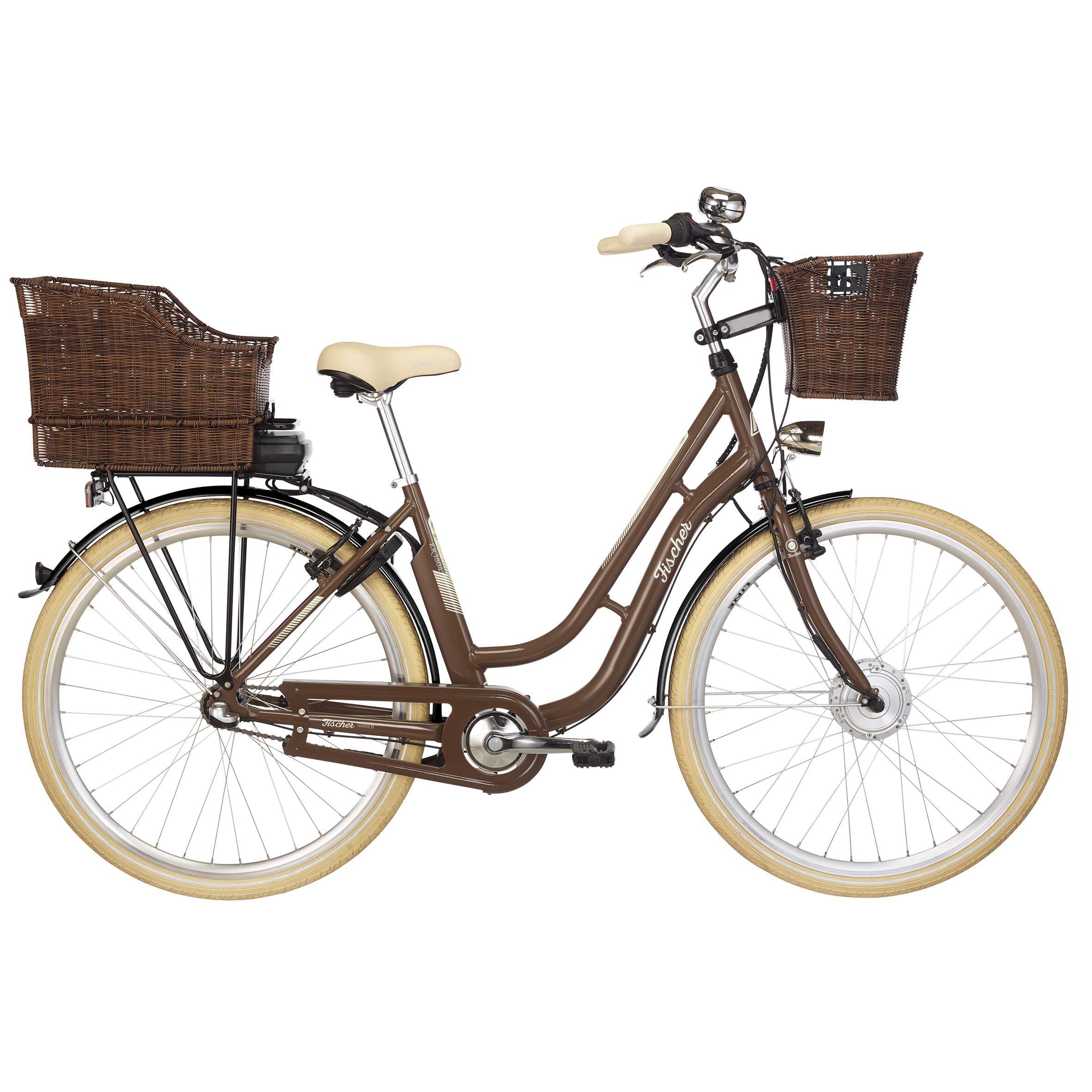 Fischer ER 1804 Retro Damen E-Bike (2019), 28 Zoll, RH 48 cm, 317 Wh, mit Korb