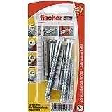 Fischer spreidpluggen SX 12 x 60 SK SB-kaart, 3 x 6-kt schroef 8 x 80, 049132