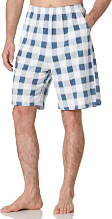 Amazon Brand - HIKARO Herren Shorts Pyjama Bottoms Baumwolle Nachtwäsche Lounge Wear PJ Bottoms