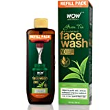 WOW Skin Science Green Tea Foaming Face Wash Refill Pack - With Green Tea & Aloe Vera Extract - For Purifying Skin- For Exten